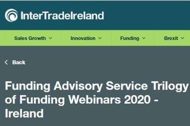 Funding Advisory Service Trilogy of Funding Webinars 2020 - Ireland